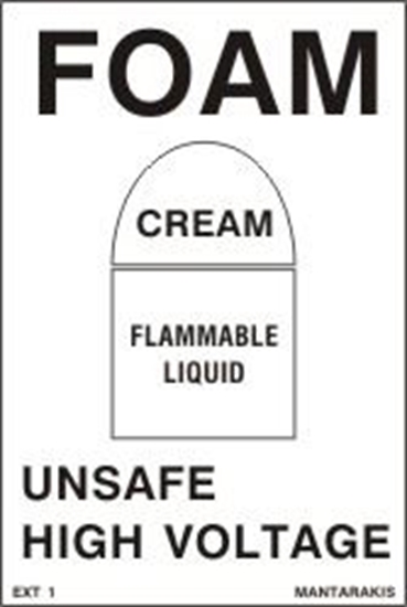 Снимка на FOAM/CREAM/FLAMMABLE LIQUID SIGN  15x10