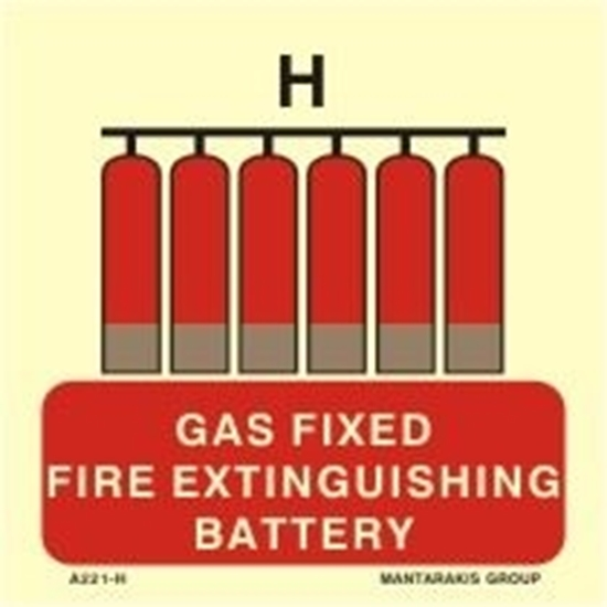 Picture of GAS FIXED FIRE EXTINGUISHING BATTERY 15X15