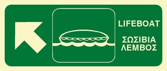 Снимка на LIFEBOAT SIGN 15X35