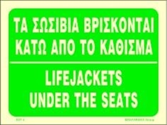 Picture of LIFEJACKETS UNDER THE SEATS 15X20