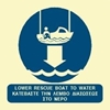 Picture of LOWER RESCUE BOAT TO WATER SIGN 15X15