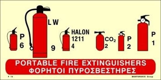 Снимка на PORTABLE FIRE EXTINGUISHERS SIGN     15x30