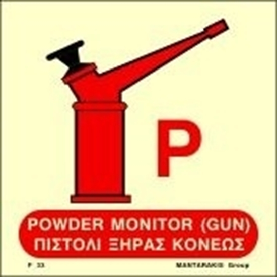 Εικόνα από POWDER MONITOR GUN SIGN    15x15