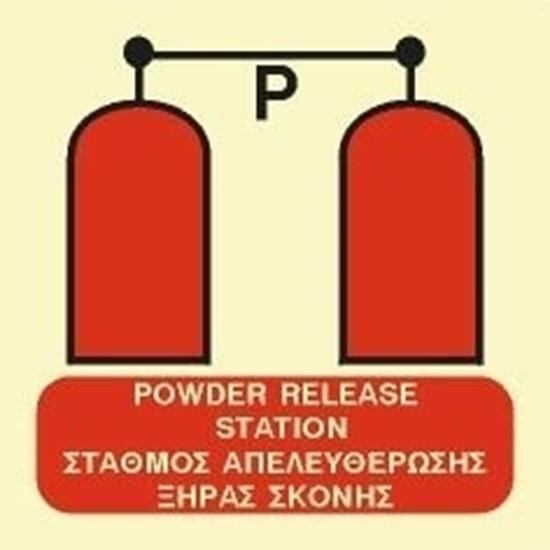 Снимка на POWDER RELEASE STATION SIGN   15x15
