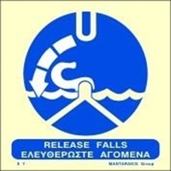 Picture of RELEASE FALLS SIGN 15X15