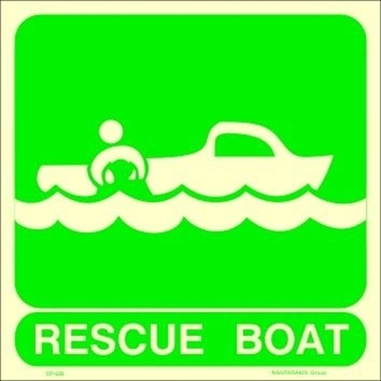 Picture of RESCUE BOAT SIGN 30X30