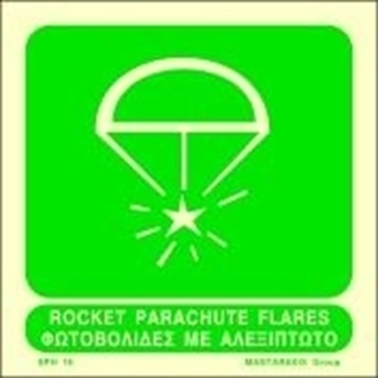 Снимка на ROCKET PARACHUTE FLARES SIGN 15X15