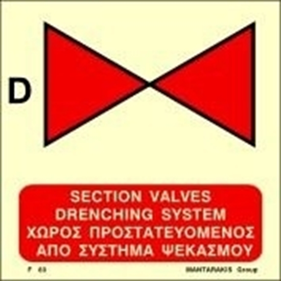 Picture of SECTION VALVES DRENCHING SYSTEM SIGN   15x15