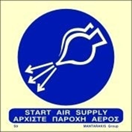 Picture of START AIR SUPPLY SIGN 15X15