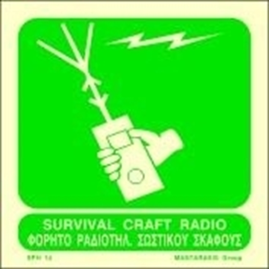 Picture of SURVIVAL CRAFT RADIO SIGN 15X15