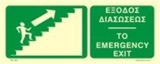 Снимка на TO EMERGENCY EXIT UP/RIGHT SIGN     12x30