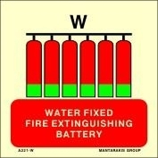 Picture of WATER FIXED FIRE EXTINGUISHING BATTERY 15X15