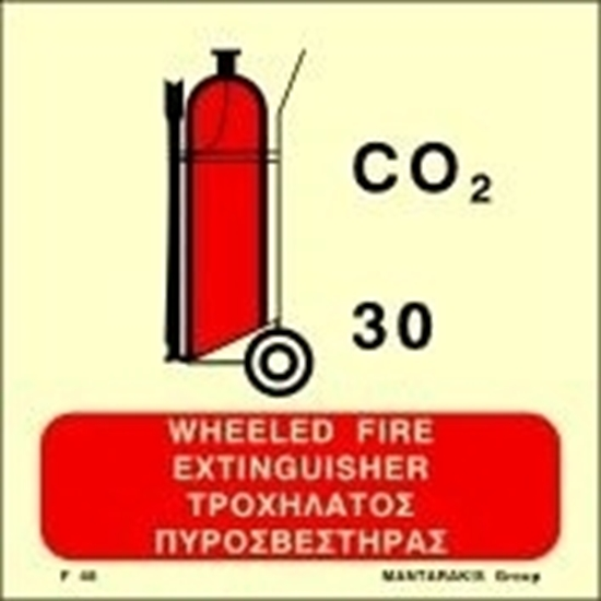 Снимка на WHEELED CO2 FIRE EXTINGUISHER SIGN    15x15