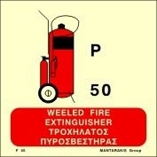 Picture of WHEELED POWDER FIRE EXTINGUISHER SIGN    15x15