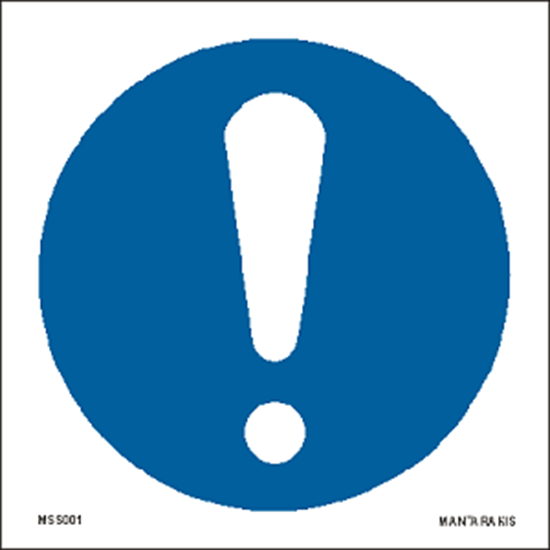 Picture of General mandatory action sign 15 x 15