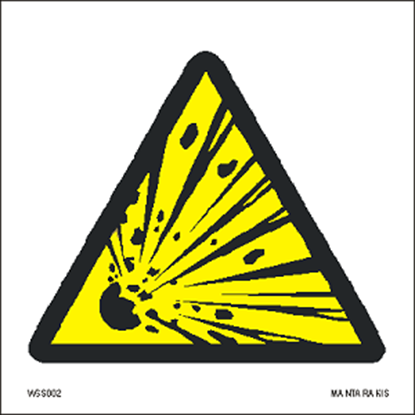 Picture of Warning  Explosive material 15 x 15