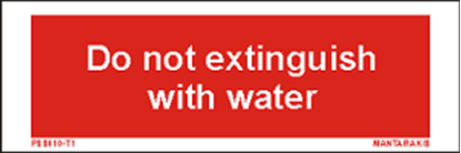 Picture of Text do not extinguish with water 5 x 15