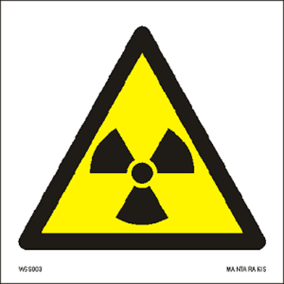 Picture of Warning  Radioactive material or ionizing radiation 15 x 15
