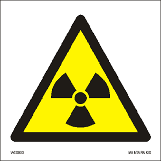 Снимка на Warning  Radioactive material or ionizing radiation 15 x 15