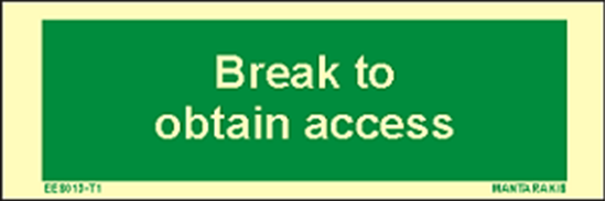 Снимка на Text Break to Obtain Access 5 x 15