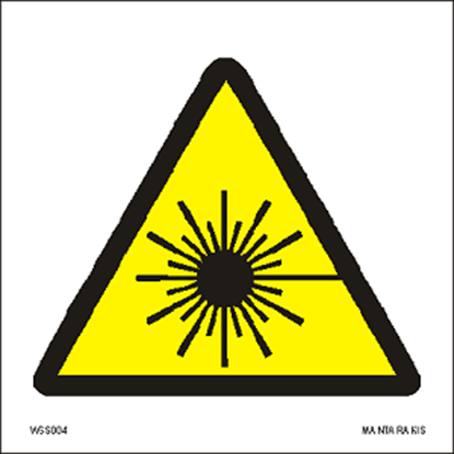 Picture of Warning Laser beam 15 x 15
