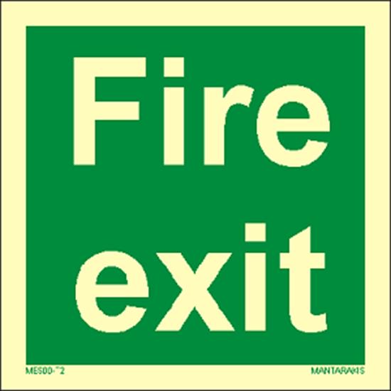 Снимка на Text Fire Exit 15 x 15