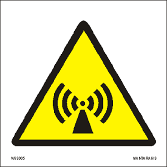 Снимка на Warning  Non-ionizing radiation 15 x 15