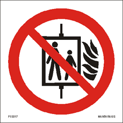 Picture of Do not use lift in the event of fire 15 x 15