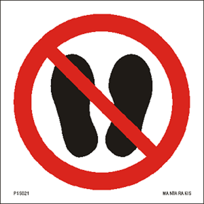Picture of Do not walk or stand here 15 x 15
