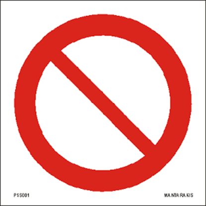 Picture of General prohibition sign 15 x 15