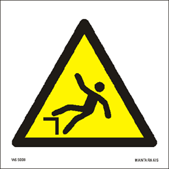 Picture of Warning Drop (fall) 15 x 15