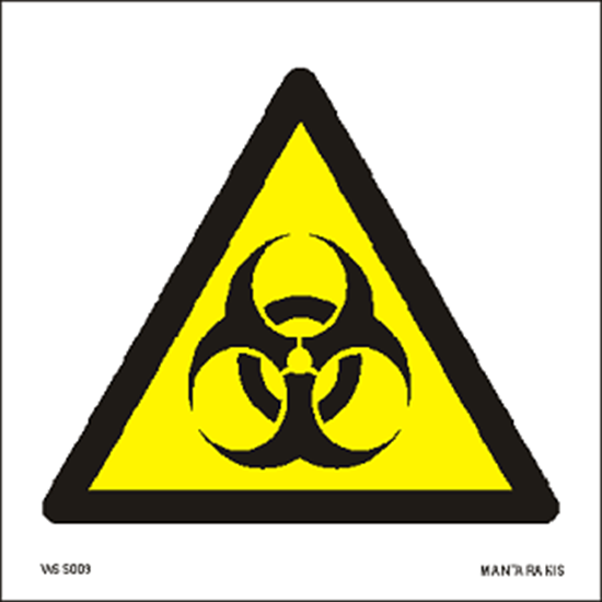 Picture of Warning Biological hazard 15 x 15