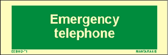 Picture of Text Emergency Telephone 5 x 15