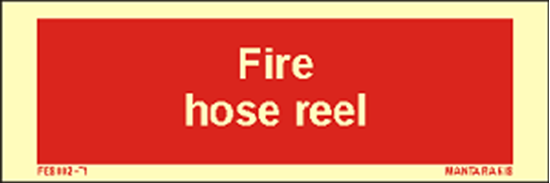 Picture of Text Fire Hose Reel 5 x 15