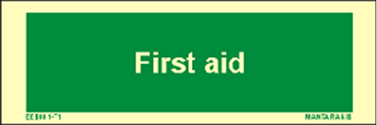 Picture of Text First Aid 5 x 15