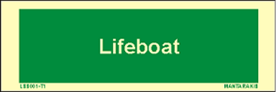 Picture of Text Lifeboat 5 x 15