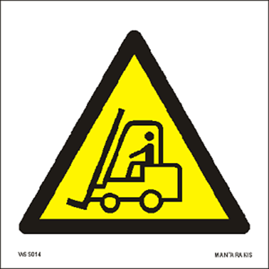 Picture of Warning Fork lift trucks and other industrial vehicles 15 x 15