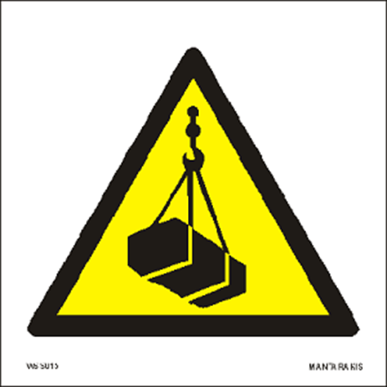 Picture of Warning Overhead load 15 x 15