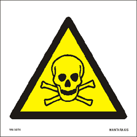 Снимка на Warning Toxic material 15 x 15