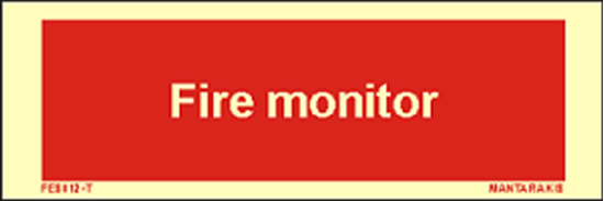 Picture of Text Fire Monitor 5 x 15