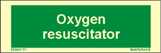 Picture of Text Oxygen Resuscitator 5 x 15