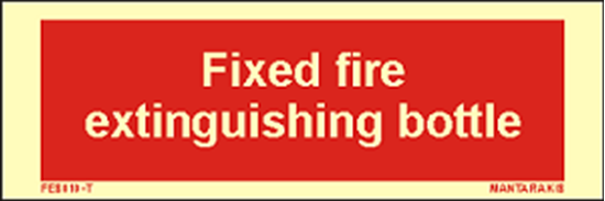 Picture of Text Fixed Fire Extinguishing Bottle 5 x 15