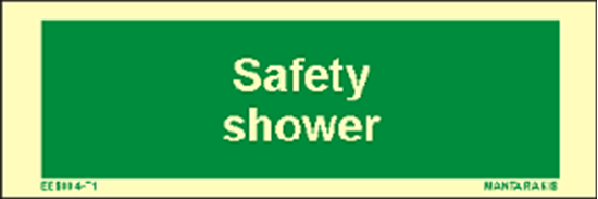Picture of Text Safety Shower 5 x 15