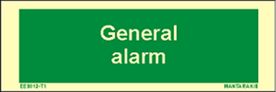 Picture of Text General Alarm 5 x 15