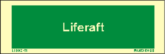 Picture of Text Liferaft 5 x 15