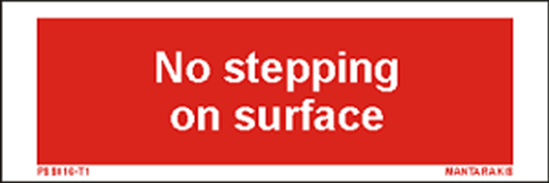 Снимка на Text no stepping on surface 5 x 15