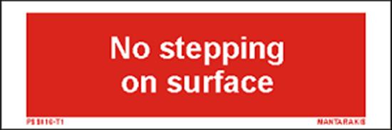 Εικόνα από Text no stepping on surface 5 x 15