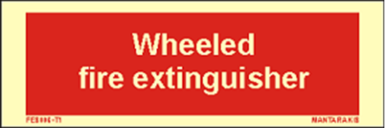 Снимка на Text Wheeled Fire Extinguisher 5 x 15