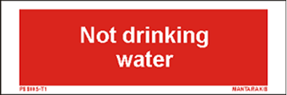 Picture of Text not Drinking water 5 x 15