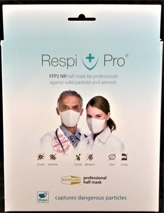Εικόνα της RespiPro White Face Protection Mask